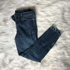 A&F Harper Low Rise Ankle Jeans 27/4R